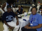 Percy and Dorothy Miller reppin' Class of '64. 2014 'Varsity Night'